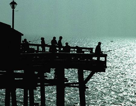桟橋と釣り