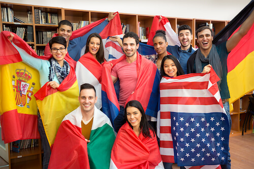 多国籍な環境で英語を学ぶ